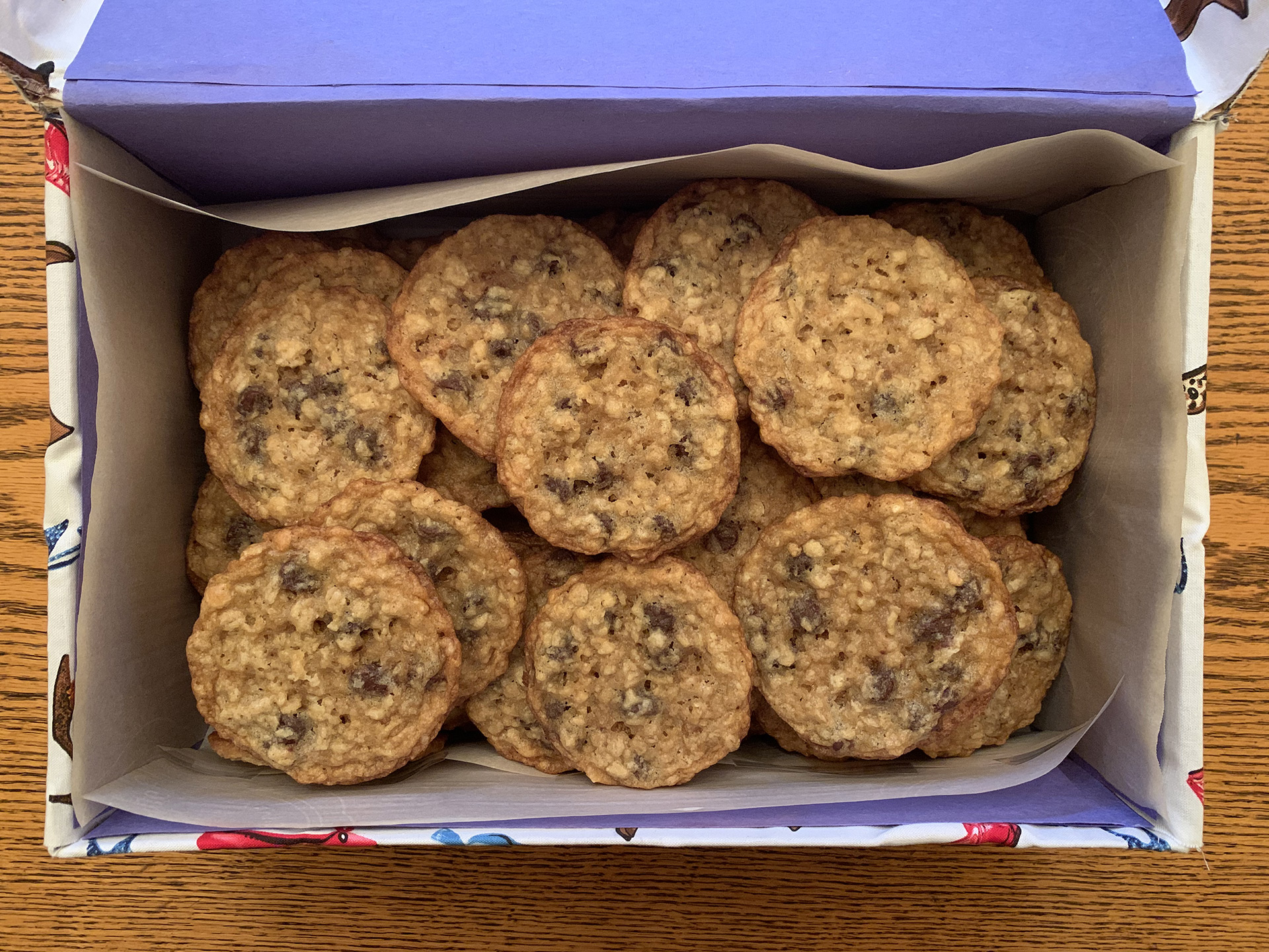 photo of cookies in the shoebox