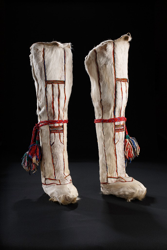 Siberian White Reindeer Boots