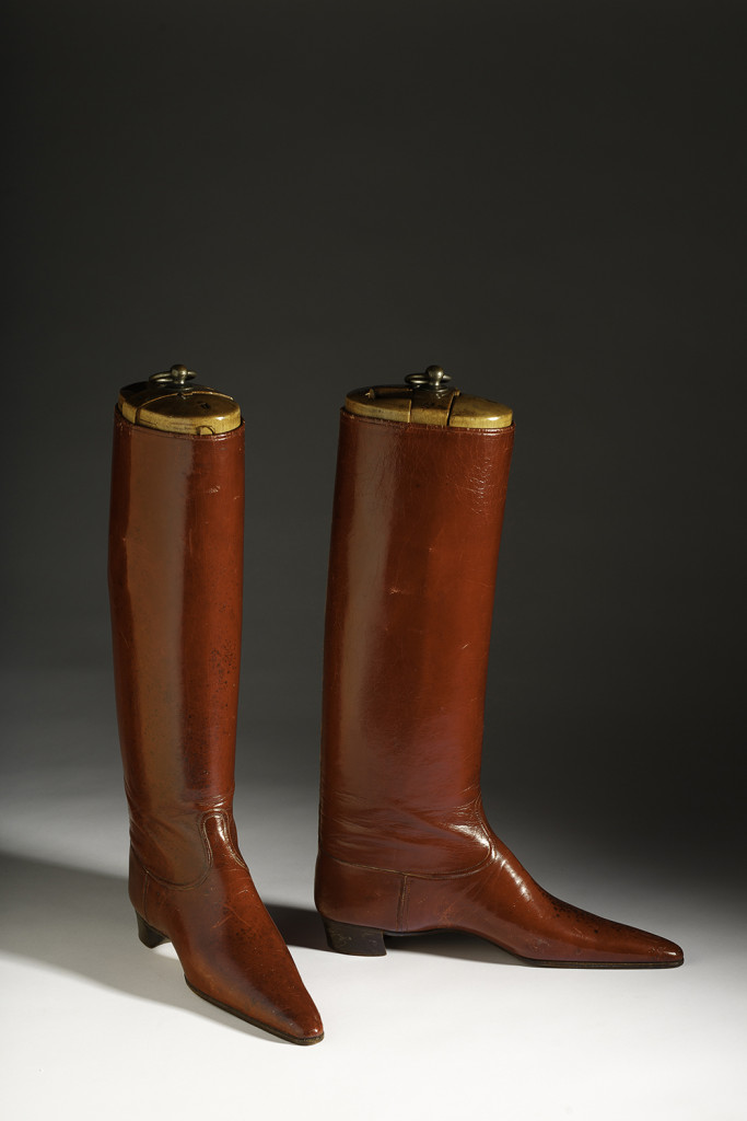 Highly Polished Red Boots