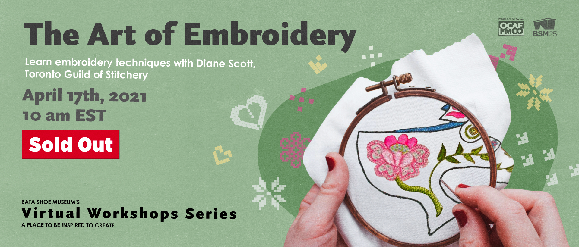 BSM Embroidery Workshop Sold out