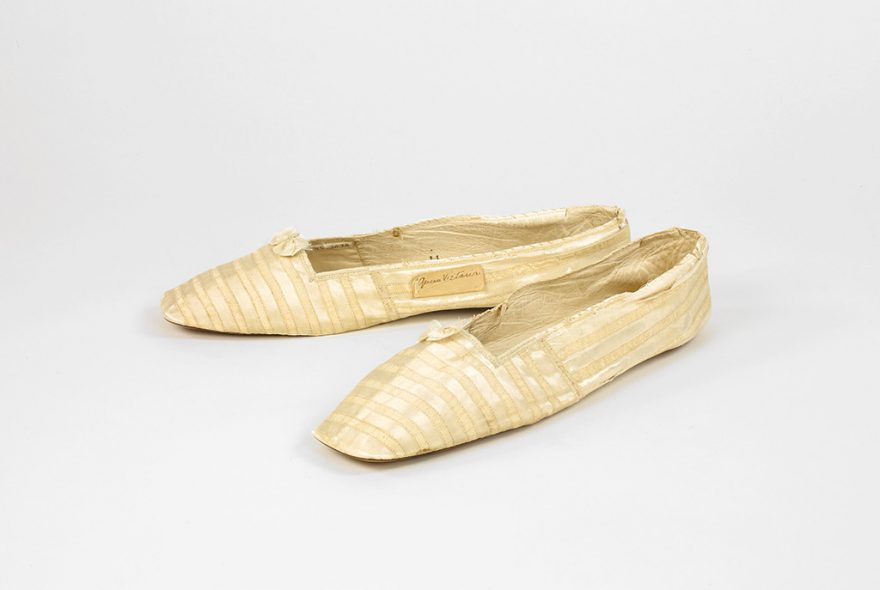 Queen Victoria's silk shoes