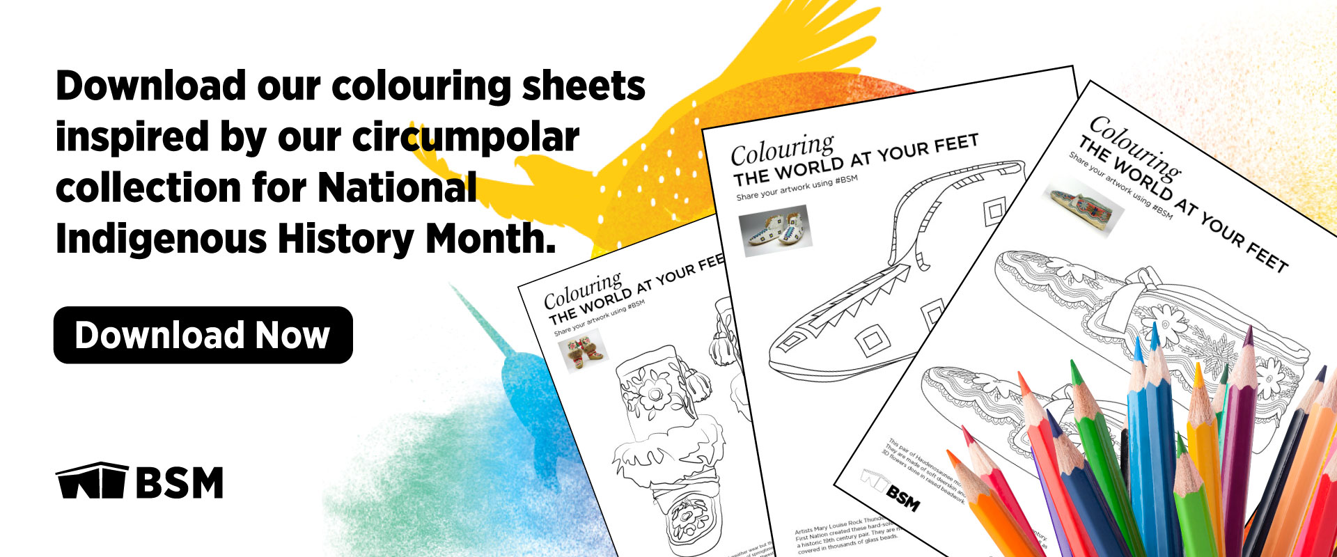 Celebrate National Indigenous History Month with colouring sheets inspired by our collection.