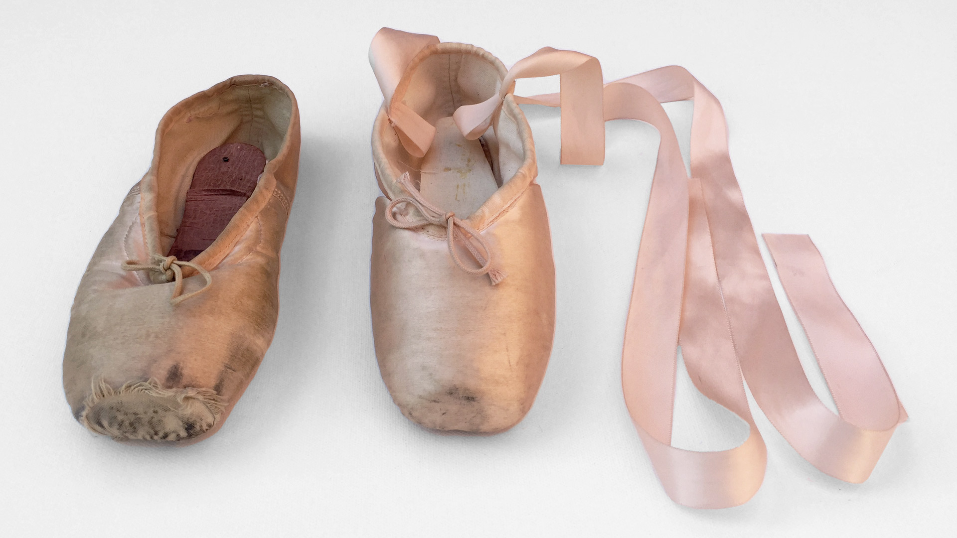 Ballet shoe belonging to Evelyn Hart