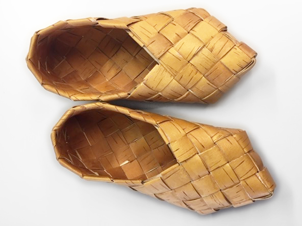 Birch Bark Slipper